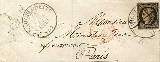 Courrier de 1849