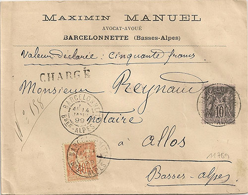Courrier de 1899