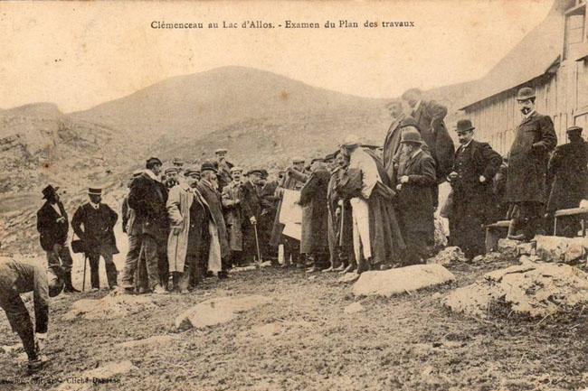 Clemenceau au lac d'Allos