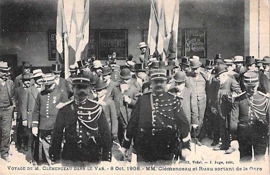 Arrivée de Clemenceau dans le Var