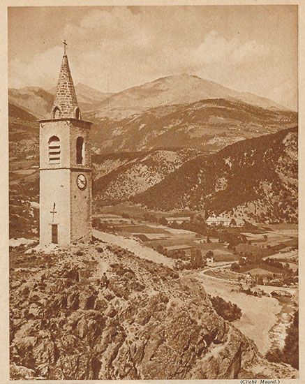 Le clocher de Méolans