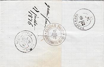 Courrier de 1876
