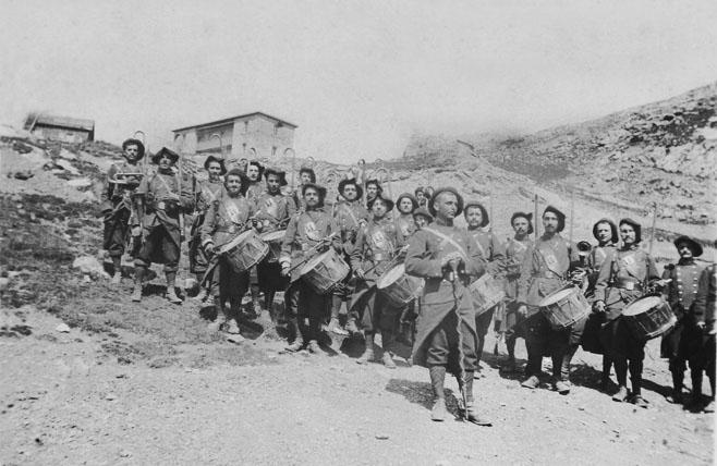 La fanfare des chasseurs alpins à Restefond