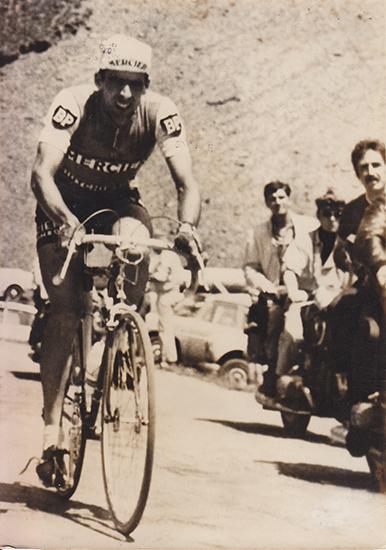 Georges Chappe au sommet du col d'Allos