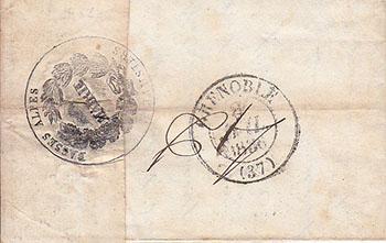 Courrier de 1836