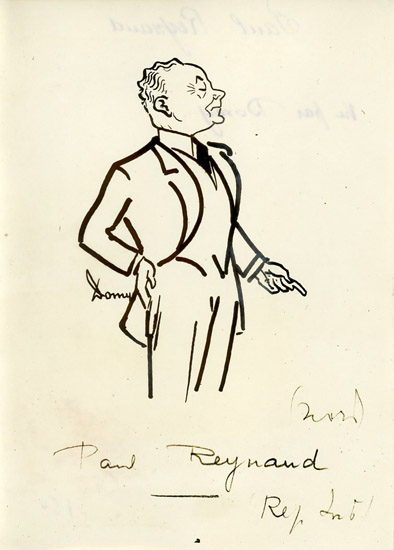 Caricature de Paul Reynaud