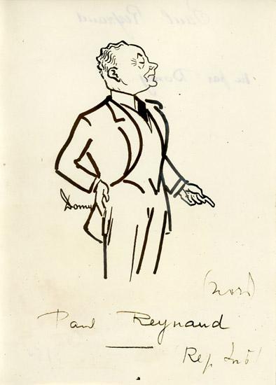 Caricature de Paul Reynaud